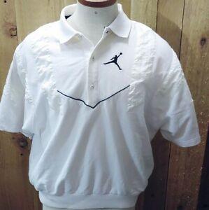 Nike Air Jordan Jumpman Vintage Warmup Basketball Pullover Shooting Jersey White