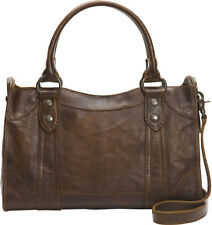 Frye DB147 Melissa Antique Pull Up Leather Satchel (Slate)