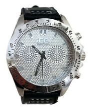 Men Casual Watch Ice Master BM1342 Black Leather Band, Dress Fashion Watch 1 ATM