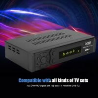 España Smart DVB T2 HD 1080P PVR TV USB Digital Set Satellite Receptor Antena EU
