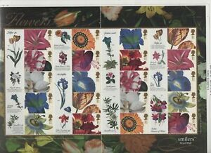 GB 2003 Smilers Flower Paintings SGLS11 sheet stamps MNH superb