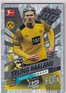 Match Attax 21/22 Bundesliga 2021/2022 Mappa No. 124 Club 100 Erling Haaland