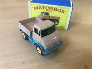 MATCHBOX UNIMOG #49B  VERY GOOD TO EXCELLENT CONDITION Reproduction Type E Box