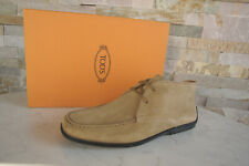 Tod `S Tods Size 40 6 Lace Up Ankle Boots Shoes Sand New Formerly Rrp
