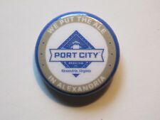 BEER BUTTON Pinback ~*~ PORT CITY Brewery ~*~ Alexandria, VIRGINIA Breweriana