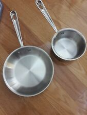 "All-Clad D3 Tri-Ply Stainless-Steel Helper Set 8"" Fry Pan and 1-qt. Saucepan"