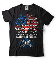 Scotland T-shirt American Grown Scottish Roots Scottish Roots Heritage Tee shirt