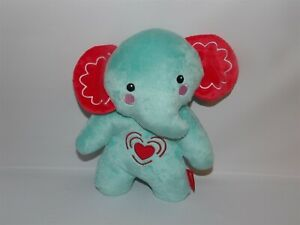 Fisher Price Plush Aqua Blue Musical Lullaby Elephant Calming Vibrations Soother