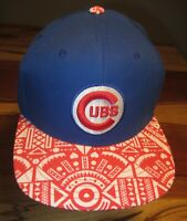 Chicago Cubs Mens Baseball Cap, Blue, Cooperstown Collection, Strapback, EUC