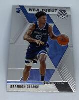 2019-20 Panini Mosaic BRANDON CLARKE ROOKIE DEBUT CARD 10/23/19 RC #277