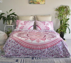 Indian Mandala Bedding Coverlet Bedspread Wall Hanging Tapestry Queen Size Throw