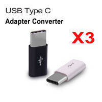 3X USB Type-C Male Connector to Micro USB 3.1 Female Converter USB-C Adapter