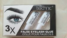 Technic False Eyelash Glue Adhesive Clear Strong Waterproof - X3 Tubes - ***NEW