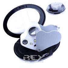 Lupa DOBLE 30X 60X 30x21mm 60x12mm LED Sellos Monedas Reloj ¡Desde España! d141