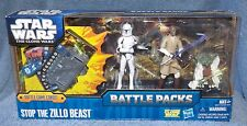 STAR WARS THE CLONE WARS BATTLE PACKS STOP THE ZILLO BEAST W/BATTLE GAME CARDS