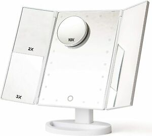 GRACE & STELLA Vanity Mirror 22 LED Screen Makeup Lights Up Magnifying USB Touch
