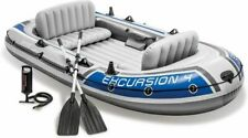 Intex Excursion 4 Inflatable Rafting Fishing 4 Person Boat Set - 68324EP