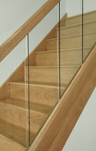 Vision Glass Panel Stair & Landing Kit with Oak Stair Parts