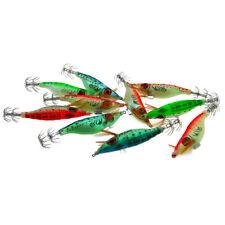 10 Pcs Squid Jig Shrimp Lure Ultra Bait Aurora Sinking 4 inch Squiding Jig Lure