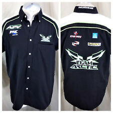 Arctic Cat Factory Snowmobiles (Small) Button Up Arctic Wear Shop Shirt Black