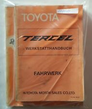 Werkstatthandbuch / Shop manual Toyota Tercel AL11 1978, 79, 80, 81 & 82