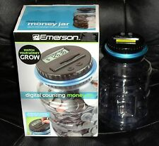 Emerson Digital Coin Counting Money Jar in Original Box-Watch Your Money Grow!