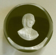 Baccarat Cameo Sulphide Paperweight Ruby Red Jean-Jacques Rousseau 1975