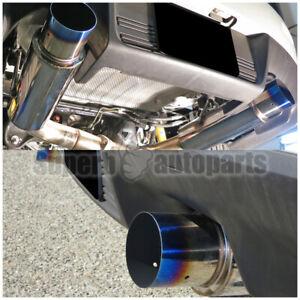 For 2008-2015 Mitsubishi Lancer EVO X Dual Catback Exhaust Titanium Style Tip