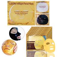 gesichts - hautpflege 24 x gold / schwarze maske crystal - collagen kern öl