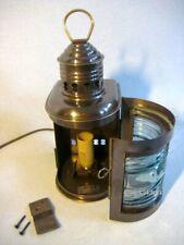 Schiffslampe - Schiffsleuchte - elektrisch- matt Messing- brüniert- Anlaufschutz