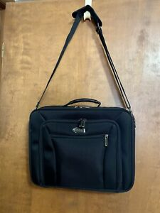 NWOT Kenneth Cole Reaction Black Briefcase EZ-SCAN Laptop Case