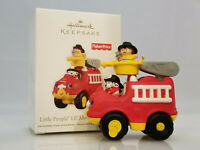 Hallmark Ornament 2011 Little People Movers Fire Truck - Fisher Price - #QXI2467