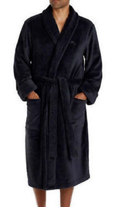 Tommy Bahama Men's Soft Plush Robe, Black Size S/M