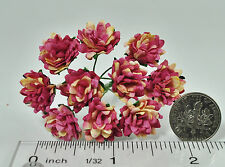 Mulberry Paper Flower Tiny Aster Creamy Rose Pink handmade for doll house craft