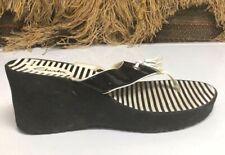 Clarks Womens Black/White Slides Comfort Shoes Size 8 M   26065867