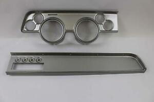 1967 1968 Mercury Cougar Silver Dash Instrument Panel for Aftermarket Gauges