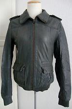 Superdry Blake bombarderos Leather Jacket señora chaqueta de cuero Biker style talla s nuevo + denominaremos
