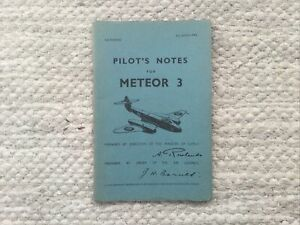 Pilot's Notes for Meteor 3