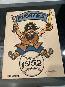 TOM JOHNSON PITTSBURGH PIRATES OWNER'S PERSONAL 1952 YEARBOOK NM TJ