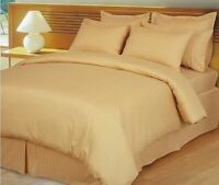 1000 TC Egyptian Cotton Home Bedding Collection Select Size Gold Striped