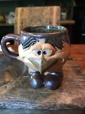 "Early VTG Hand Made In Wales UK   PRETTY UGLY POTTERY  ""CHICKEN"" Coffee Mug"
