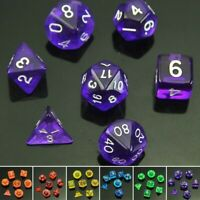 Game Dice Set Kit Plastic DND Board Games Durable Portable 1 Set Sided