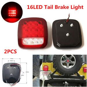 16LED Stop Tail Light Rear Brake Lamp Turn Reverse Fit For Jeep Wrangler Trailer