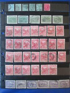 Tasmania, 62 stamps, mostly used, 2 HM