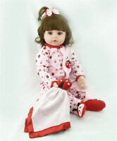 Reborn Doll 48cm Baby Girl Dolls Soft Silicone Kids Gifts Toys Bedtime Playmates