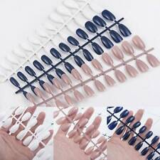 24PCS Fake Nails Full Cover Detachable Nail Tips Ballerinas False Nails Simple