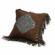 Hiend Accents Bella Vista Blue Medallion with Fringe Throw Pillow
