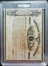 HENRY WELLS AND WILLIAM FARGO SIGNED STOCK CERTIFICATE PSA/DNA AUTHENTIC!