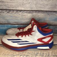 ADIDAS CRAZYLIGHT BOOST USA WHITE ROYAL BLUE RED ULTRA S84630 Men's US Size 18