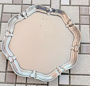 Sterling Silver Four Footed Card Tray - Sheffield - 1923